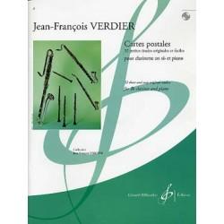 VERDIER CARTES POSTALES CLARINETTE ET PIANO ET CD
