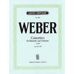 WEBER CONCERTINO CLARINETTE ET PIANO OP26