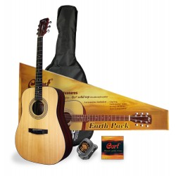 CORT PACK GUITARE FOLK EARTH OPEN PORE