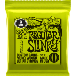 ERNIE BALL CORDES ELECTRIQUES 3215 SKINNY TOP 10-46 PACK