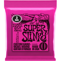 ERNIE BALL CORDES ELECTRIQUES 3215 SKINNY TOP 9-42 PACK