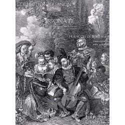 De BOIVALLEE FRANçois Sonate N° 1 pour flûte et harpe ou clavecin