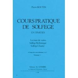 BOUTIN COURS PRATIQUE DE SOLFEGE VOL1