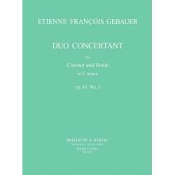 GEBAUER: DUO CONCERTANT OP.16 N°3