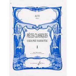 LAINE - PIECES CLASSIQUES VOL.1 POUR ALTO ET PIANO
