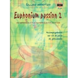 Gilles Martin Euphonium Passion 2 AVEC CD. Partition - Euphonium et Piano Billaudot