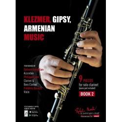 KLEZMER, GIPSY, ARMENIAN MUSIC CLARINETTE BOOK 2