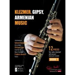 KLEZMER, GIPSY, ARMENIAN MUSIC CLARINETTE BOOK 1
