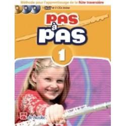 Pas à Pas Flute Volume 1 + Dvd + 2 CD methode flute traversiere
