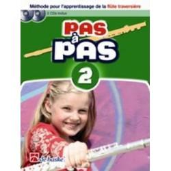Pas à Pas Flute Volume 2 + Dvd + 2 CD methode flute traversiere