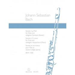 BACH Sonate en Sol Mineur BWV 1020 flute et piano