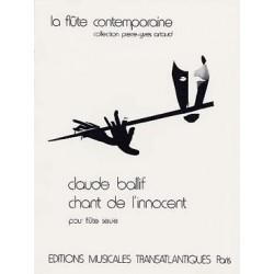 BALLIF CHANT DE L INNOCENT FLUTE SEULE