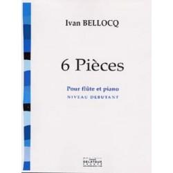 BELLOCQ 6 PIECES FLUTE ET PIANO DEBUTANT