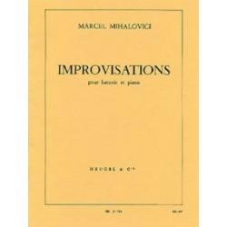 MIHALOVICI IMPROVISATIONS POUR BATTERIE ET PIANO