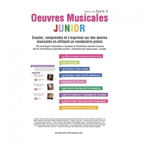 OEUVRES MUSICALES JUNIOR