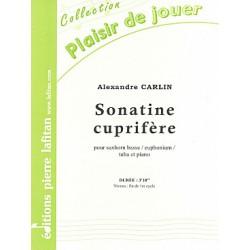CARLIN SONATE CUPRIFERE TUBA ET PIANO