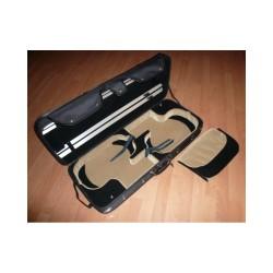 Etui 2 violons modèle conservatoire coloris noir/noir-beige(2007