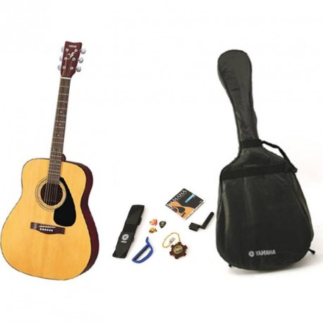PACK GUITARE FOLK ACOUSTIQUE YAMAHA F310 PACK NATUREL GUITARE FOLK