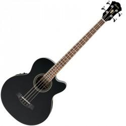 GUITARE BASSE. ELECTRO-COUSTIQUE IBANEZ AEB8E-BK - noire