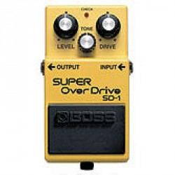 PEDALE EFFET BOSS SD1 SUPER OVERDRIVE