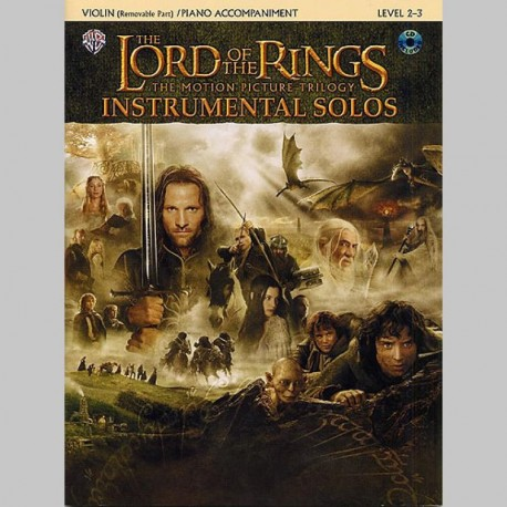 Lord Of The Rings: Instrumental Solos: Violin/Piano Accompaniment (Book/CD) - Partitions et CD