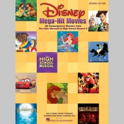Disney Mega-Hit Movies ~ Songbook Mixte (Piano Solo)