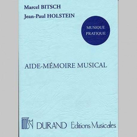 Bitsche: Aide Mémoire Musical - Livre