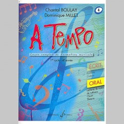 Boulay: A Tempo - Partie Orale - Volume 4 - Partitions