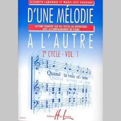 Lamarque : D'Une Mélodie À L'Autre Vol.1 - Partitions