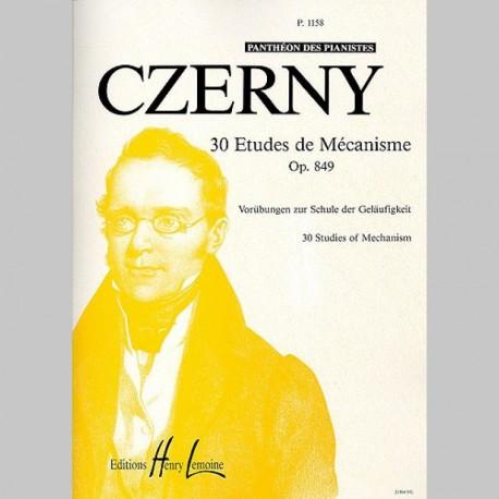 Czerny : Etudes De Mécanisme (30) Op.849 - Partitions