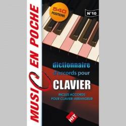 Music en poche Dictionnaire d' accords pour claviers