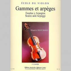 Maurice Hauchard: Gammes Et Arpeges - 1er Cahier - Partitions