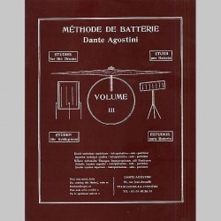 Dante Agostini: Methode De Batterie: Volume 3 - Partitions
