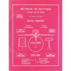 DANTE AGOSTINI MÉTHODE DE BATTERIE, volume 1 : SOLFÈGE BATTERIE
