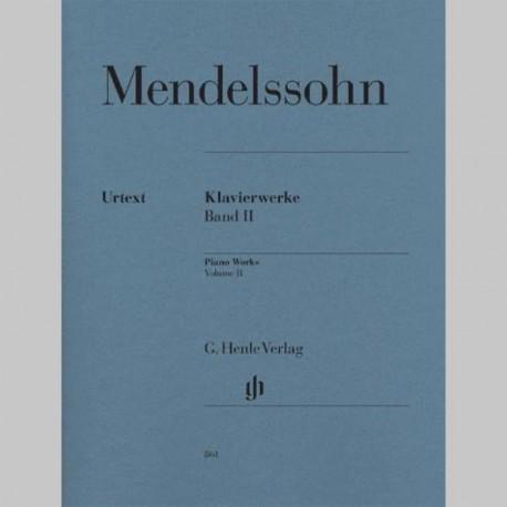 Mendelssohn: Œuvres pour le piano volume II