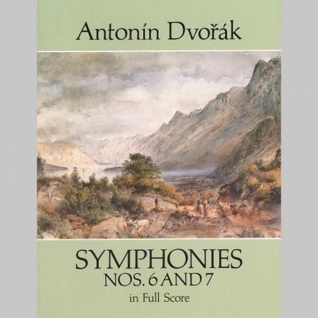 Dvorak: Symphonies Nos.6 And 7 (Dover Full Score)~ Partitions (Orchestre)