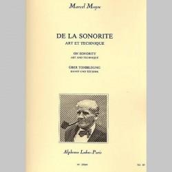 MOYSE : De La Sonorite Art Et Technique Flute Trav.~