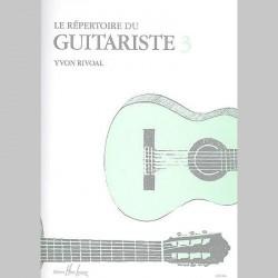 Yvon Rivoal : Répertoire Du Guitariste Vol.3~ Partitions et Parties (Guitare)