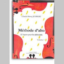 Claude-Henry Joubert: Methode D'Alto Volume 1~ Activité pour École (Alto)