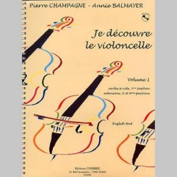 CHAMPAGNE/BALMAYER JE DECOUVRE CELLO V 1