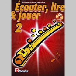 ECOUTER LIRE & JOUER METHODE + CD VOL 2 Flûte enseignement