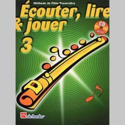 ECOUTER LIRE & JOUER METHODE + CD VOL 3 Flûte enseignement