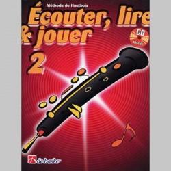 ECOUTER LIRE & JOUER METHODE + CD VOL 2 Hautbois enseignement