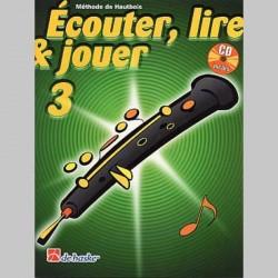 ECOUTER LIRE & JOUER METHODE + CD VOL 3 Hautbois enseignement
