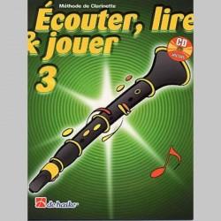 ECOUTER LIRE & JOUER METHODE + CD VOL 3 Clarinette ensegnement
