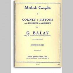 BALAY Methode Complète de Cornet A Pistons - Volume 2~ Méthode Instrumentale (Trompette)