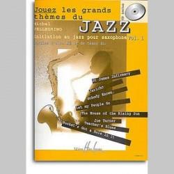 Michel Pellegrino : Jouez Thèmes Jazz Vol.1~ Partitions et Parties (Saxophone)