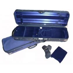 Etui violon 4/4 en bois DE LUXE bleu/bleu (FV-BL-BL)