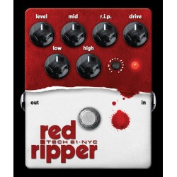 PEDALE FUZZ POUR BASSE TECH21 RED RIPPER