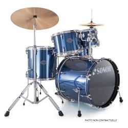 SONOR SMART FORCE STAGE 2 SET FUSION 22'' BRUSHED BLUE AVEC ACCESSOIRES